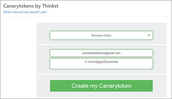 Canarytokens Tells When Anyone Open File Hindi