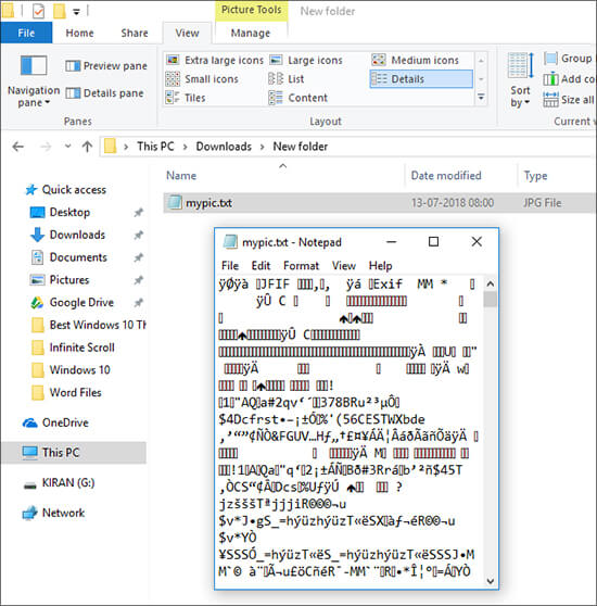 File Extension in Hindi