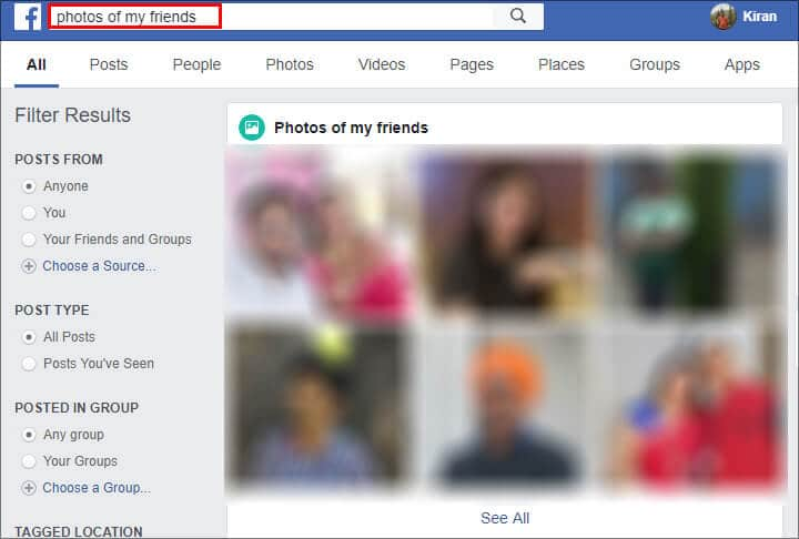 Facebook Search Tips in Hindi