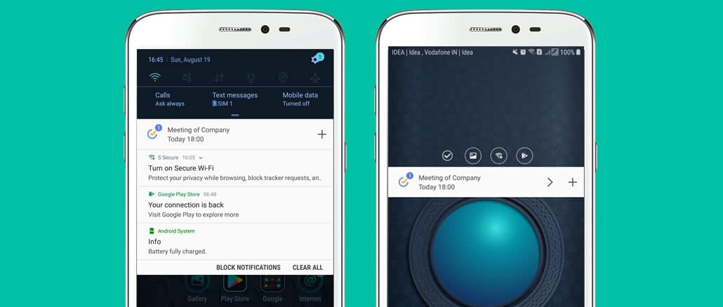 TickTick Add Task To Android Notification Tray Hindi