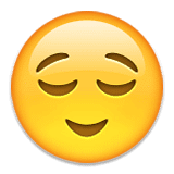 Relieved Face Emoji in Hindi