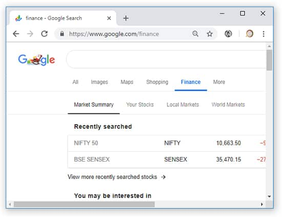 Google Finance - Googles Other Search Engines Hindi
