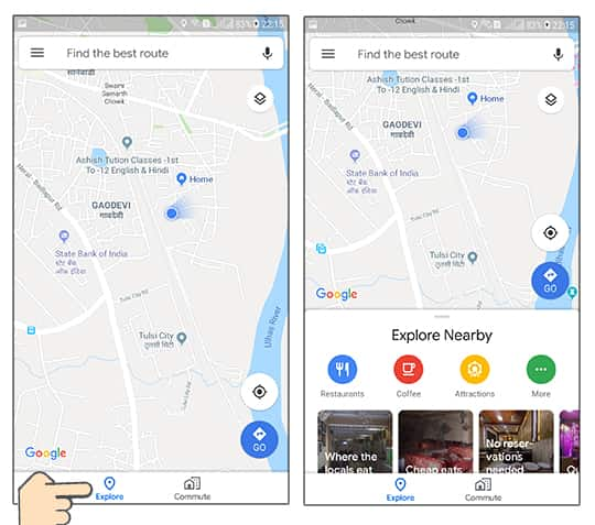 How to use Google Maps in Hindi