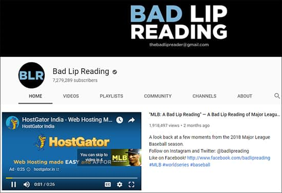 Bad Lip Reading- Funny YouTube Channels Hindi