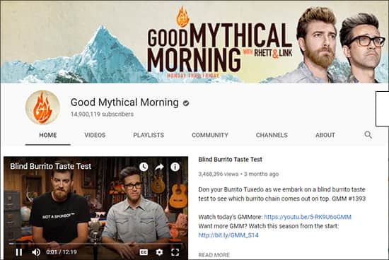 Good Mythical Morning - Funny YouTube Channels Hindi