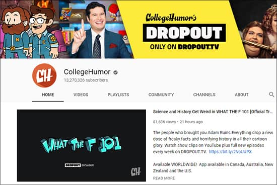 CollegeHumor - Funny YouTube Channels Hindi
