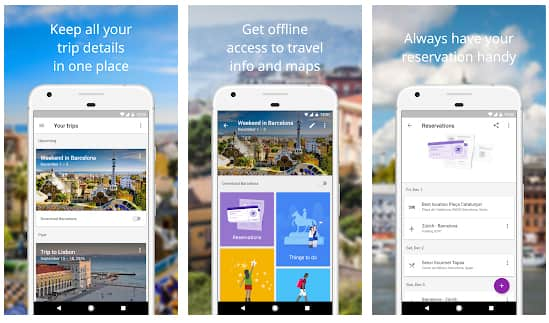 Google Trips - Travel Planner-New Best Free Android Apps For 2019