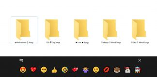 Use Emoji in File Folder Names in Windows 10