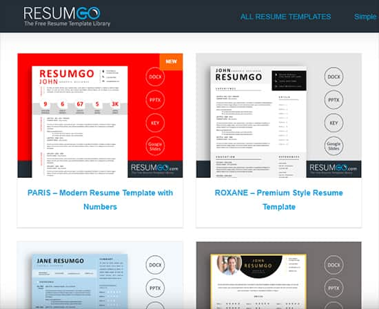Best Free Resume Makers -ResumGo