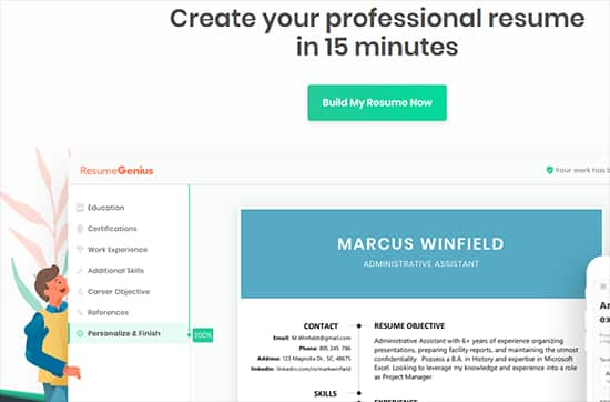 Best Free Resume Makers -Resume Genius