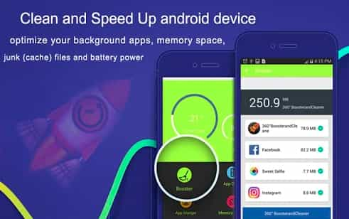360° Booster & Cleaner- Best Free Android Booster Apps