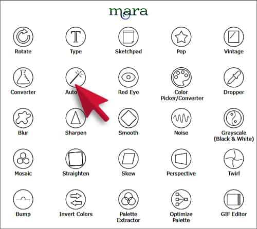 Mara Photos Image Editing Web Tool