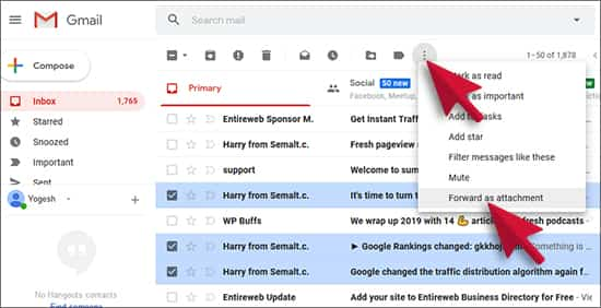 Send Emails as Attachments in Gmail