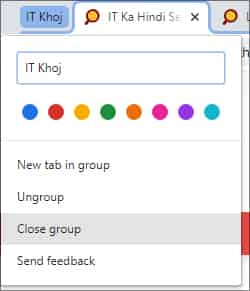 Tab Groups in Google Chrome