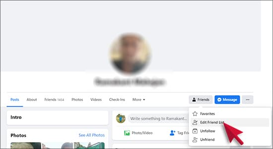 Facebook Restricted List in Hindi