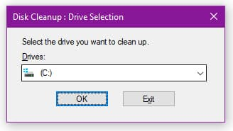 Disk Cleanup - Windows Meaning in Hindi